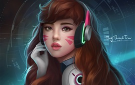 Preview wallpaper Overwatch, Hannah, brown hair girl