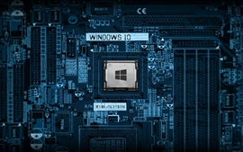 Preview wallpaper PC mainboard, CPU, technology