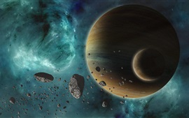 Preview wallpaper Planets, stars, universe