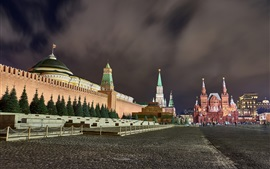 Preview wallpaper Red Square, Moscow, city night