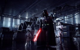 Preview wallpaper Star Wars: Battlefront II, Darth Vader, lightsaber, EA games