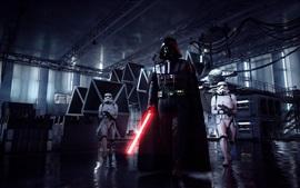 Aperçu fond d'écran Star Wars: Battlefront II, Dark Vador, sabre laser, jeux EA