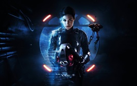 Preview wallpaper Star Wars: Battlefront II, girl, games