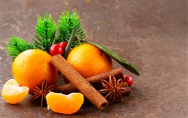 Star anise, cinnamon, oranges