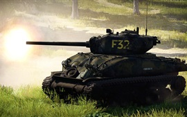 Preview wallpaper War Thunder, tank, war, grass