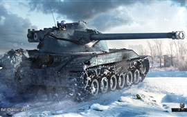 Preview wallpaper World of Tanks, winter, snow
