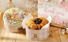 Preview wallpaper Yummy cookies, box, bear picture