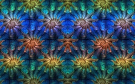 Abstract picture, symmetry, pattern, fractal