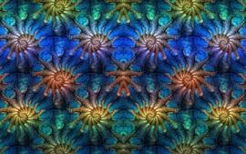 Cuadro abstracto, simetría, patrón, fractal