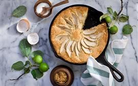 미리보기 배경 화면 사과 파이, 설탕, 음식