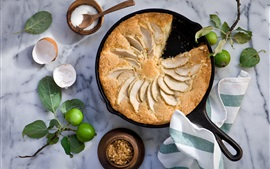 Preview wallpaper Apple pie, sugar, food