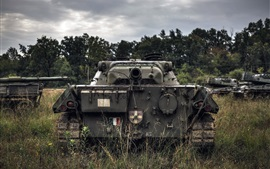 Preview wallpaper Army, tanks, grass