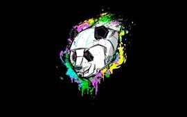 Photo d'art, panda, robot, fond noir