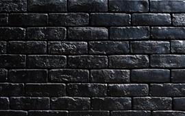 Preview wallpaper Black bricks wall