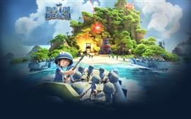 Aperçu fond d'écran Boom Beach, jeux mobiles