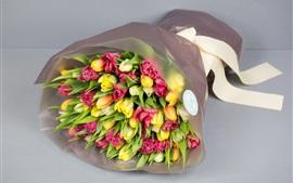 Букет, цветы, тюльпаны, подарок