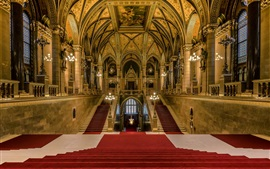 Preview wallpaper Budapest, Hungary, Parliament, main staircase, hall