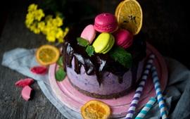 Pastel, chocolate, dulce, postre