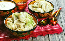 Preview wallpaper Chinese delicacy, dumplings, spices