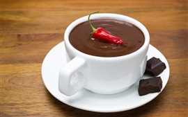Chocolate, red pepper, cup