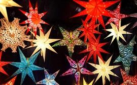 壁紙のプレビュー クリスマスマーケット、星、装飾