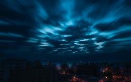 壁紙のプレビュー 都市、夜、空、雲
