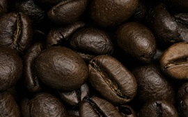 Preview wallpaper Coffee beans macro photography, grain