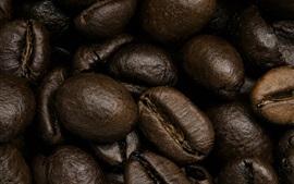 Кофе в зернах макросъемка, зерно