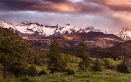 Preview wallpaper Colorado, San Juan Mountains, forest, USA
