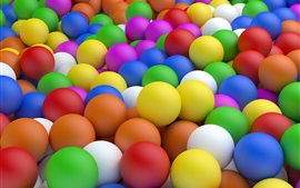 Preview wallpaper Colorful balls, art design