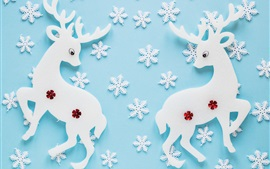 Preview wallpaper Creative art, deer, snowflakes, texture