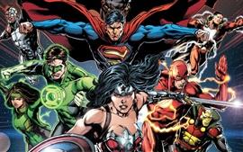 Heróis de quadrinhos DC, imagens de arte