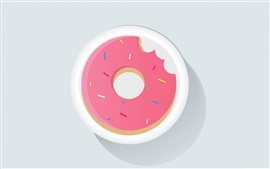 Preview wallpaper Doughnut, vector picture