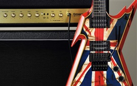 Preview wallpaper Electric guitar, amplifier, music