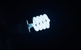 Preview wallpaper Electricity lamp, spiral, night