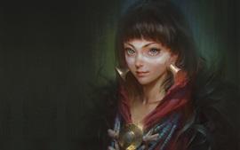 Menina da fantasia, pintura da arte