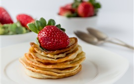 Preview wallpaper Food, strawberry, pancakes
