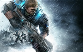 Preview wallpaper Gears of War 4, equipment, soldier, girl
