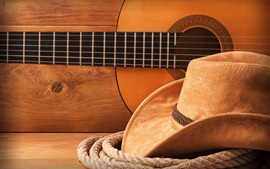 Preview wallpaper Hat, rope, guitar