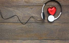 Fones de ouvido, amor coração