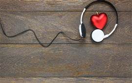 Preview wallpaper Headphones, love heart