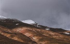 Исландия, Акурейри, горы, склон, снег