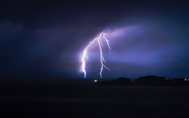 Preview wallpaper Lightning, night, storm, clouds