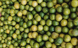 Preview wallpaper Many green limes, citrus, fruit