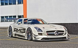 Preview wallpaper Mercedes-Benz sports car front view