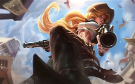 Preview wallpaper Miss Fortune, cowgirl, League of Legends