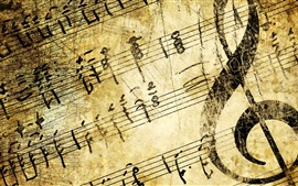 Preview wallpaper Music, treble clef, texture