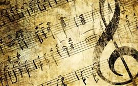 Музыка, скрипичный ключ, текстура