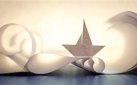 Paper boat, creative