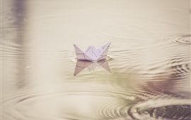 Preview wallpaper Paper boat, toy, water